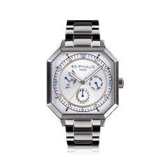 Power reserve auto watch (silver dial, stainless steel case & bracelet)