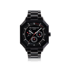Power reserve auto watch (black dial,black pvd case & bracelet)