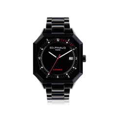 Automatic Watch - Black PVD Case, Black Dial, Bracelet