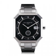 Sport Watch  -   Steel (Black Dial)